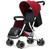 Cochecito de bebé, todo terreno Ligero, cochecito para correr, diseño de 4 ruedas mudo, con amortiguador, adecuado para bebés de 0 a 36 meses