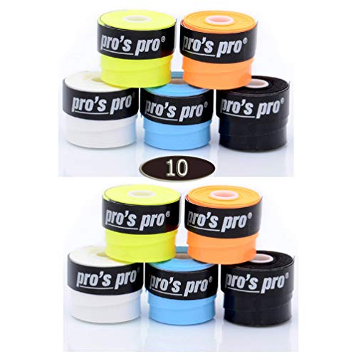 Pros Pro Super Tacky 10 Tennis Grips Colored