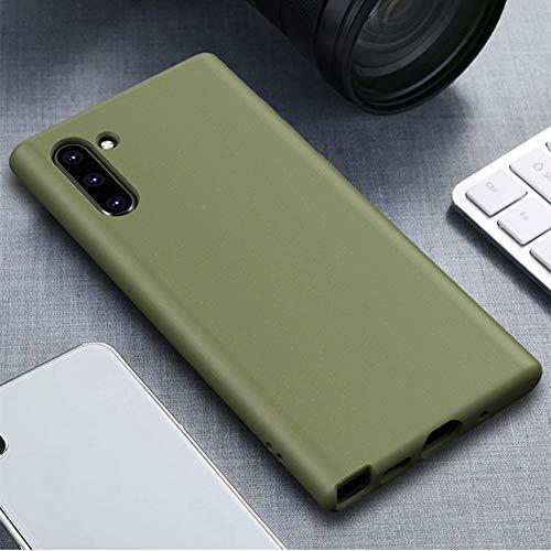 Funda para Galaxy Note 10, fabricada en granulado de paja de trigo mate, ajuste perfecto, ultra delgada, a prueba de golpes, flexible, de silicona suave, de TPU, funda protectora...