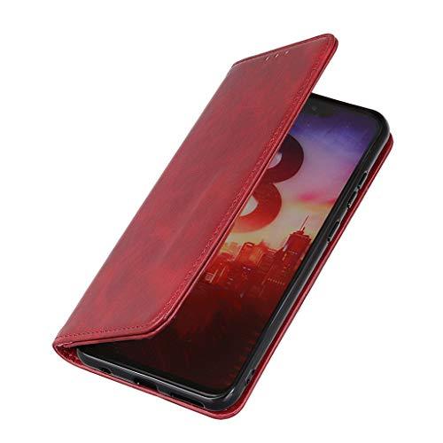 HAOTIAN Hülle für Google Pixel 4a 5G Brieftasche, mit [Kartenfächern] [Kickstand] [Magnetische Funktion] Folio Handyhülle PU Leder Schutzhülle, Google Pixel 4a 5G Flip Hülle, Rot