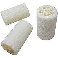Fregona corporal de baño de esponja natural de esponja loofah de 10 cm Exfoliante Luffa Sponge (Blanco)