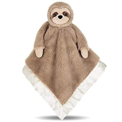 "Bearington Baby Lil' Speedster Sloth Plush Stuffed Animal Security Blanket, Lovey 15"""