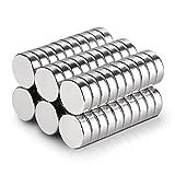 Anpro 60 x Neodym Magnete Mini Magnete Rund Starke klein Magnete für Pinnwand, Magnettafel, Kühlschrank, 10x2 mm