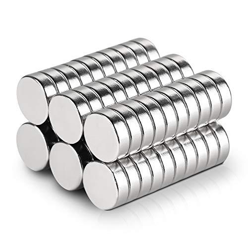 Anpro 60Stk Neodym Magnete Mini Magnete Rund Starke klein Magnete 10 x 3mm für Pinnwand, Magnettafel, Kühlschrank