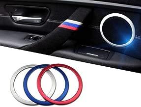 iJDMTOY (4 Aluminum Speaker Ring Cover Trims for 2012-up BMW F30 F31 3 Series 320i 328i 335i M3 F32 F33 4 Series 428i 435i, Red