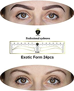 CTR Stencil Sticker for Eyebrow Microblading Template Only One Form by CTR (24 pcs) (Exotic Form 24pcs)