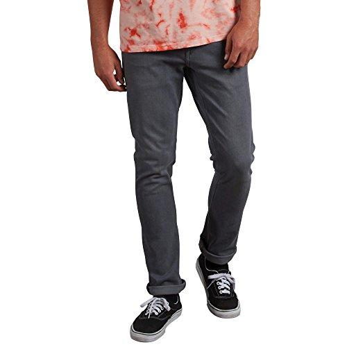 Volcom Men's 2x4 Stretch Denim Jean Pants Jeans, Grigio Vintage, 28W x 30L Uomo