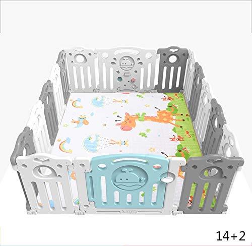 MYMAO 01Barrière de Jeu d'enfants, barrière de bébé intérieure, natte Rampante de chéri, Aire de Jeux de sécurité à la Maison, Bambin