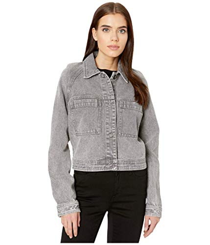 RVCA Damen Kelton Jacket Baumwolle, leicht, Jacke, grau, X-Small/36