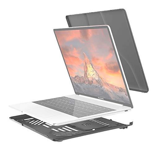 Diseño delgado, peso ligero Dividir la caja protectora del ordenador portátil PC de cristal a prueba de agua for Huawei MateBook 13 pulgadas, con el soporte y la manija (Negro), diseño delgado, ligero