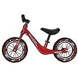 GASLIKE Bicicleta de Equilibrio para niños, sin Pedales, Ruedas de 12/14 Pulgadas, Asiento Ajustable, Primera Bicicleta para niños de 2-8 años de Edad, Estable y Segura,F 14inch Red