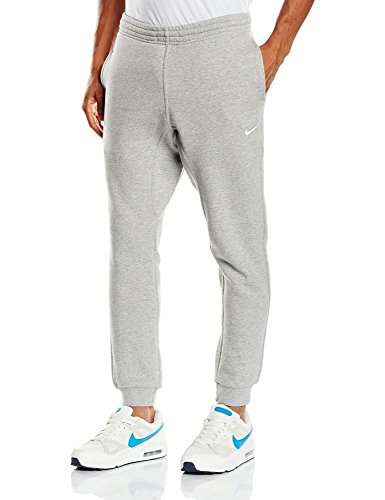 Nike Mens Club Fleece Tapered Cuff Sweatpants Pants Large Grey/White