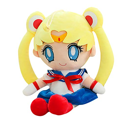 WDDAM Sailor Moon Plush Doll Sailor Moon and Sailor Chibi Moon Plush Toy for Adults Kids
