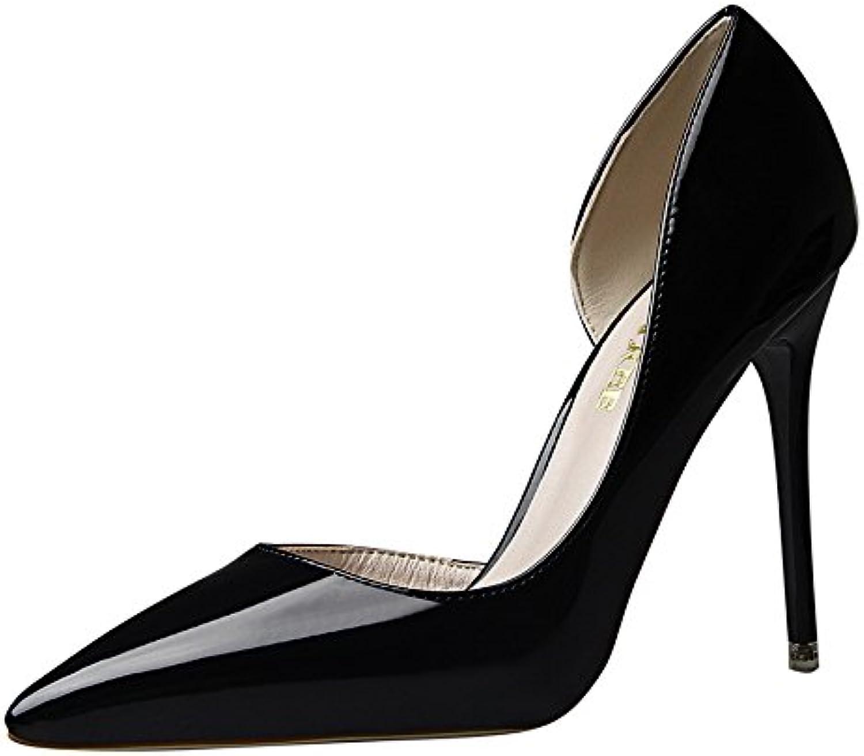 XIA&Hausschuhe Frühling High Heels Elegant Zwei Farben wies Stilett weibliche einzelne Schuhe Herbst  | Neues Design  | Exquisite (mittlere) Verarbeitung  | Schöne Kunst