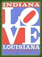 ポスター ロバート インディアナ Love louisiana 額装品 ウッドベーシックフレーム(グリーン)