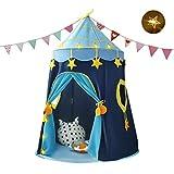 Achort Spielzelt Prinzenschloss Zelt für Jungs Kleinkinder Spielhaus für innen und außen,...