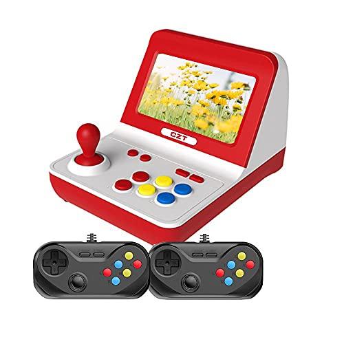 CZT Nueva Nostalgia clásica Big Rocker Retro Mini Consola de Arcade Dual-Core 32GB Build in 9000 Game Arcade y Otros 10 simuladores mp3 mp4 (Blanco)