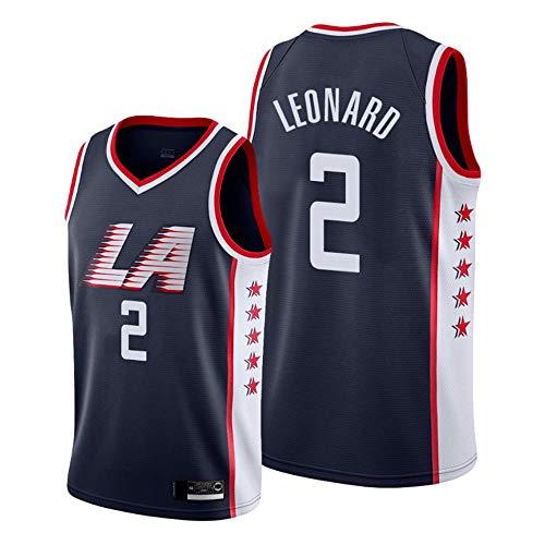 HS-XP Baloncesto Masculino Jersey - Clippers Leonard 2# / 23# Williams Deportes Jersey Camiseta Uniformes Transpirable De Secado Rápido Chaleco sobre El Tema del Juego,2#,L(175~180cm)