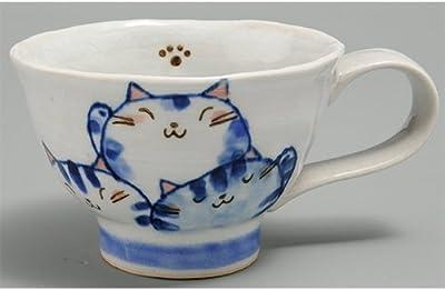 マグカップセレクション 仲良し猫マグ(青) [R9.5xH6.5cm] プレゼント ギフト 和食器 かわいい インテリア