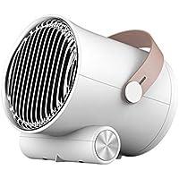 LYzpf Rápido Calentador de Ventilador Mini Tip-Over Y Protección contra el Sobrecalentamiento Pequeña Cerámica Portátil Calefactor Eléctrico para Habitación Oficina Baño