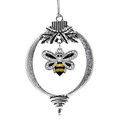 Inspired Silver - Silver Customized Charm Holiday Ornaments with Cubic Zirconia Jewelry