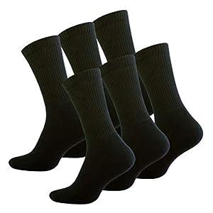 STARK SOUL 6 pares Calcetines de deporte con de rizo suela 39-42 Negro