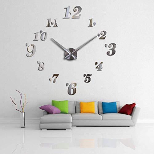 Wandklok Openbare Betaalbare Home Decoratie Studie Muursticker Spiegel Effect Eenvoudige Stijl Stilleven DIY Quartz 27 inch
