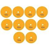 Ladieshow 10 Uds 3 pulgadas discos de lijado de alta resistencia almohadillas pulido diamante mármol piedras de hormigón 150 malla