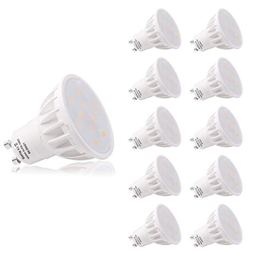 LOHAS GU10 Bombillas LED, Blanca Neutra 4000K, Bombillas LED 6W (Equivalentes a 50 W), 220V - 240V, 500LM, No Regulables,...