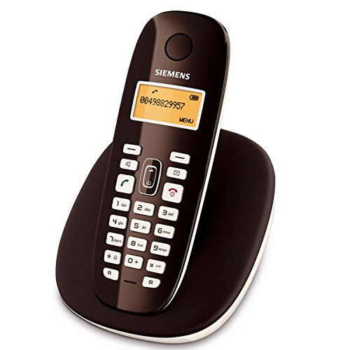 Siemens Gigaset A385 - Teléfono inalámbrico con contestador automático (DECT, pantalla iluminada), color negro [Importado de Alemania]