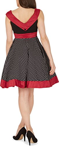 BlackButterfly 'Sylvia' Vintage Polka-Dots Pin-up-Kleid (Schwarz, EUR 40 – M) - 3
