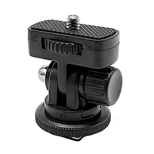 """Adaptador con Montaje de Zapata fría Tornillo de 1/4 """"Rotación de 180 °para Monitor de luz de Flash LED"""