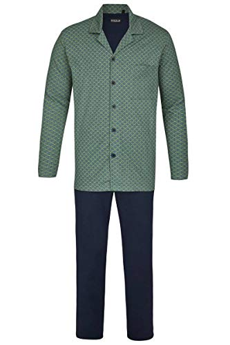 Ringella Herren Pyjama mit Durchgehender Knopfleiste lorbeer 60 0241212, lorbeer, 60