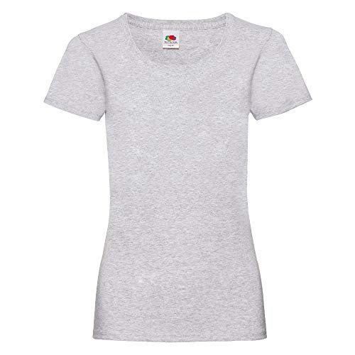 Fruit of the Loom - Lady-Fit Valueweight T - Modell 2013 L,Heather Grey