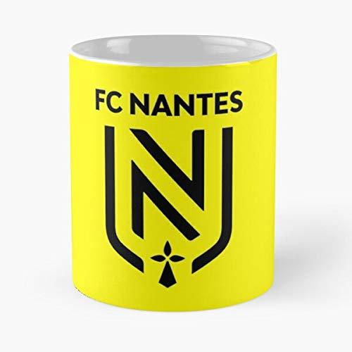 Fc Nantes Ligue 1 France Logo New Black Classic Mug Best Gift Ceramic 11oz Coffee Mugs