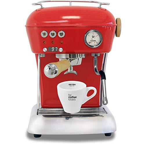 Ascaso Dream Up V3 Love Red PID Wood Handle Semi-Automatic 110 volt Espresso Machine - w/Ascaso Cup & Saucer