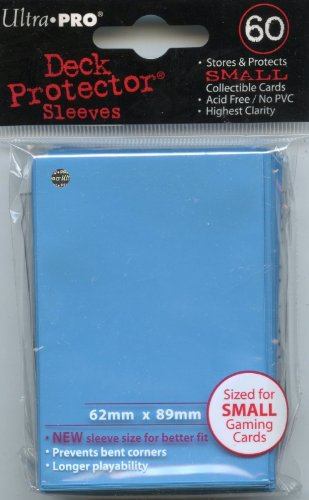 Ultra Pro Card Supplies YuGiOh Deck Protector Sleeves Light Blue 60Count