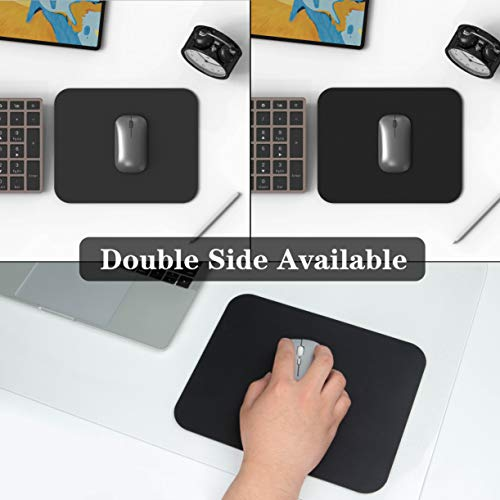 """YSAGi Clear Desk Pad Protector, Round Edge Non Slip Clear Writing Mat, 31.5""""x15.7"""" Waterproof PVC Clear Desk Mat with 7.9""""x9.8"""" Waterproof PU Leather Mouse Pad for Office/Home (Frosted+Black) Photo #5"""
