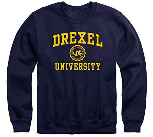 Ivysport Drexel University Dragons Adult Unisex Crewneck Sweatshirt, Heritage, Navy, Medium