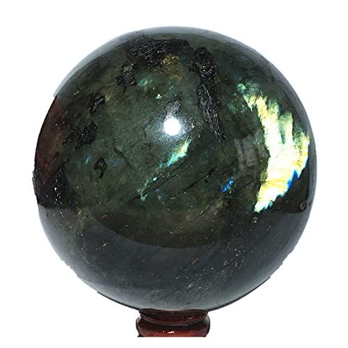 LULIJP Natürliche Kugel Labradorit Quarz Kristall Home Möblierung Dekoration Steinkugel Reiki Ball