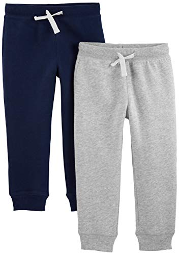 Simple Joys by Carter's Kleinkind Jungen Fleece-Hose, 2er-Pack ,Gray/Navy ,US 5T (EU 110–116)
