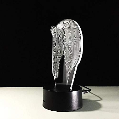 Lámpara De Cabeza De Caballo De 7 Colores, Luces De Noche Led Visuales En 3D Para Niños, Mesa Usb Táctil, Lampara Lampe, Luz De Noche Para Dormir Para Bebés