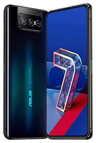 ASUSスマートフォンZenFone7【日本正規代理店品】(8GB/128GB/QualcommSnapdragon865/6.67インチワイドナノエッジAMOLEDディスプレイCorningGorillaGlass6/Android10/5G/オーロラブラック/ClearCase・ActiveCase付き)ZS670KS-BK128S8/A