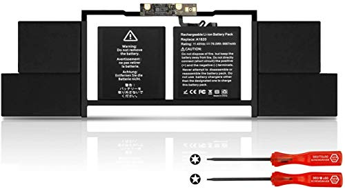 K KYUER A1820 Laptop Batería Replacement para Mac Book Pro 15 Inch A1707 Late 2016 Mid 2017 EMC 3162 3072 MLH32LL/A MLH42LL/A MLW72LL/A MLW72HN/A MLW82LL/A MPTR2LL/A MPTR2D/A MPTR2FN/A MPTT2LL/A 76Wh