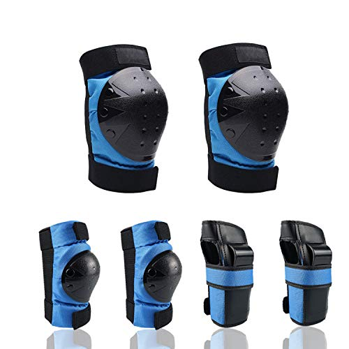 Nascence Adult/Kids/Youth Knee Pads Elbow Pads Wrist Guards Protective Gear Set for Skateboarding Inline Rollerblading Roller Skating Cycling Bike BMX Bicycle Scooter Snowboarding 3 in 1
