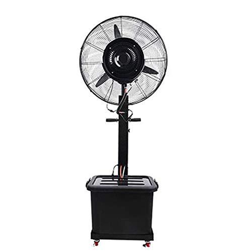 Dongbin Vertikaler Leistungsstarker Ventilator-Schaukel-Außennebelventilator Großer Sprühkühler Industrielüfter Luftbefeuchter 3-Gang-Einstellung Leistungsstarker Schwarzwassertanklandung