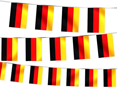 Alsino Duitsland wimpelketting slinger vlag wimpel ketting vlaggetje W-DE 4,50 m
