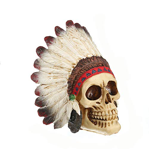 LISAQ Animal cráneo Adorno artesanías de Resina decoración del hogar Pintura artística Accesorios de película Barra de café Escultura de Mesa