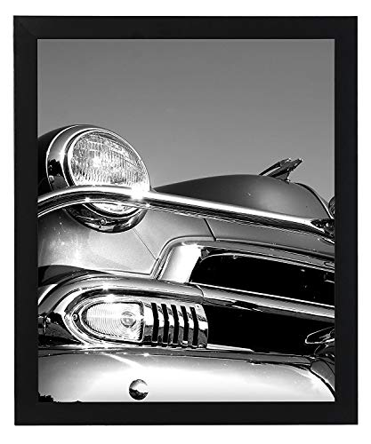 Americanflat 18x24 Poster Frame in Black with Polished Plexiglass-Horizontal and Vertical Formats with Included Hanging Hardware