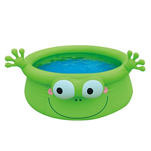 LJYLF Inflable natación del bebé Piscina para niños, Piscina Inflable Plegable, Blow agrupaciones de natación para niños y Adultos, Piscina Inflable al Aire Libre para el jardín, Frog